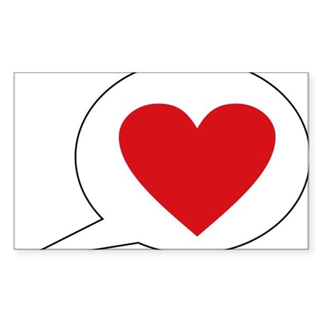 love Sticker (Rectangle)
