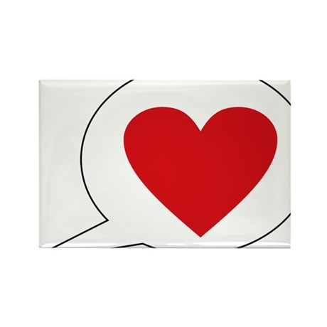 love Rectangle Magnet