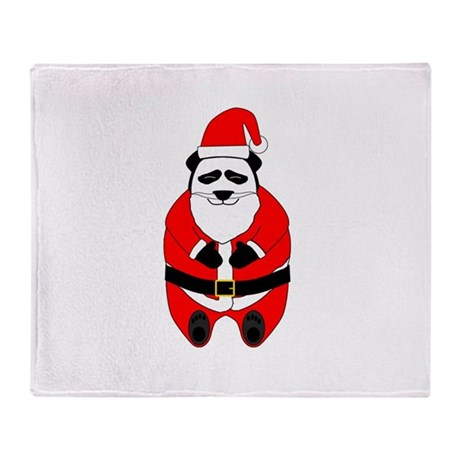 Santa Panda Throw Blanket