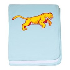 Gold Panther baby blanket