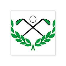 "Golf logo Square Sticker 3"" x 3"""