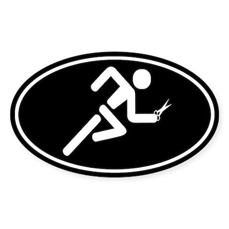 Running with Scissors Sticker (Oval)