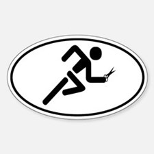 Running with Scissors Sticker (Oval)