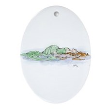 Ophelia In The Water Ornament (Oval)