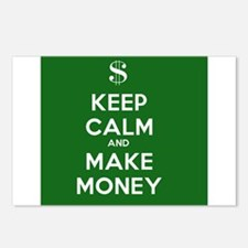 Keep Calm and Make Money Postcards (Package of 8)