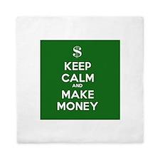 Keep Calm and Make Money Queen Duvet