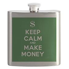 Keep Calm and Make Money Flask