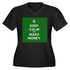 Keep Calm and Make Money Women's Plus Size V-Neck