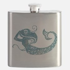 Worn Mermaid Graphic Flask