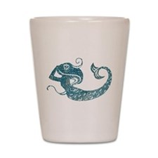 Worn Mermaid Graphic Shot Glass