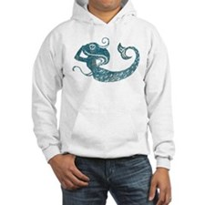 Worn Mermaid Graphic Hoodie