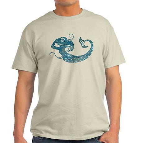 Worn Mermaid Graphic Light T-Shirt