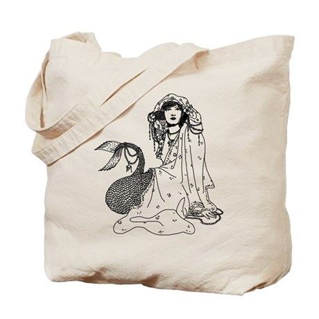 Mermaid In Shawl Tote Bag