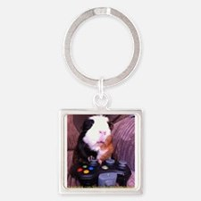 Guinea pig on xbox controller Square Keychain
