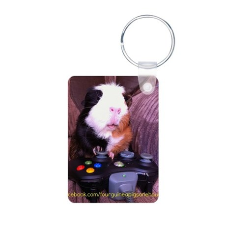 Guinea pig on xbox controller Aluminum Photo Keych