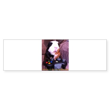 Guinea pig on xbox controller Sticker (Bumper)