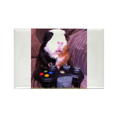 Guinea pig on xbox controller Rectangle Magnet (10