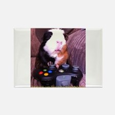 Guinea pig on xbox controller Rectangle Magnet