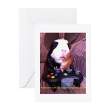 Guinea pig on xbox controller Greeting Card