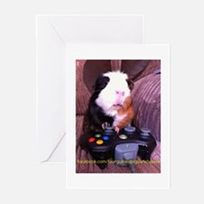 Guinea pig on xbox controller Greeting Cards (Pk o