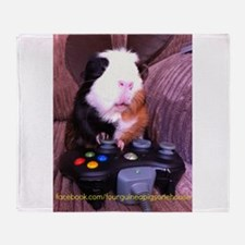Guinea pig on xbox controller Throw Blanket