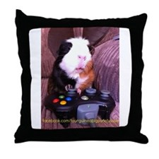 Guinea pig on xbox controller Throw Pillow