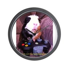 Guinea pig on xbox controller Wall Clock