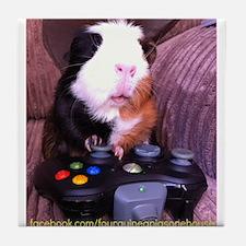 Guinea pig on xbox controller Tile Coaster