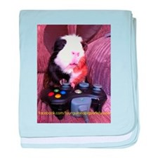 Guinea pig on xbox controller baby blanket
