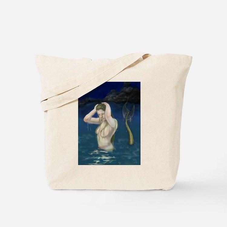 Mermaid In the Water Tote Bag