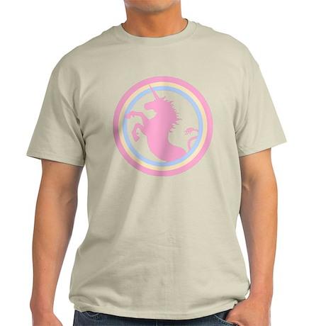 Retro Pink Unicorn Light T-Shirt