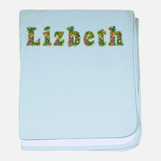 Lizbeth Floral baby blanket