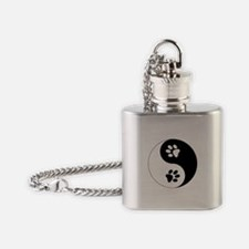 Yin Yang Paws Flask Necklace