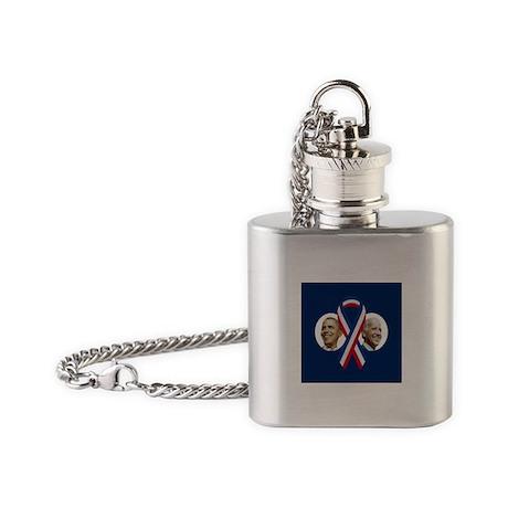 Classic Obama Biden Flask Necklace