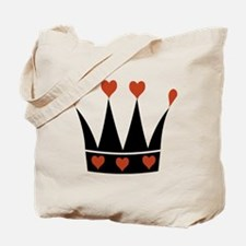 Crown With Hearts Tote Bag