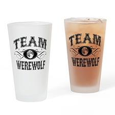 Team Werewolf Drinking Glass