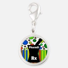 pharmD necklace 5.PNG Silver Round Charm