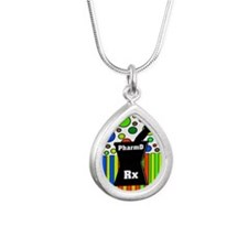 pharmD necklace 5.PNG Silver Teardrop Necklace