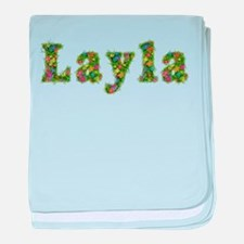 Layla Floral baby blanket