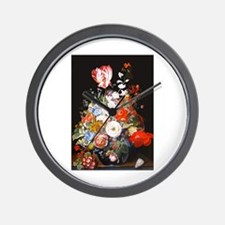 Rachel Ruysh Flower Bouquet Wall Clock