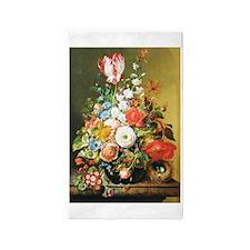 Rachel Ruysh Flower Bouquet 3'x5' Area Rug