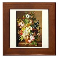 Jean-Francois van Dael Flower Bouquet Framed Tile