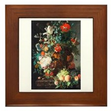 Jan Van Huysum Flower Bouquet Framed Tile