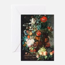 Jan Van Huysum Flower Bouquet Greeting Card