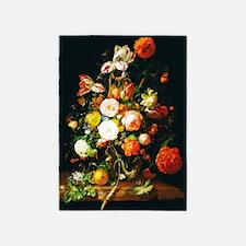 Rachel Ruysh Flower Bouquet 5'x7'Area Rug