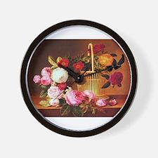Johan Laurentz Jensen Basket of Roses Wall Clock
