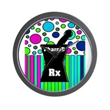 pharmD necklace 4.PNG Wall Clock