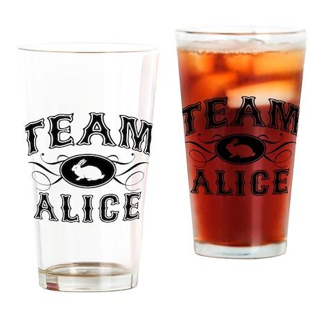Team Alice Drinking Glass
