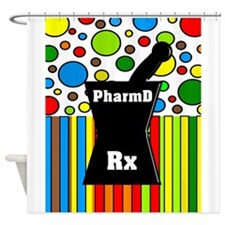 pharmD necklace 2.PNG Shower Curtain