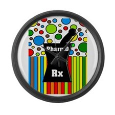 pharmD necklace 2.PNG Large Wall Clock